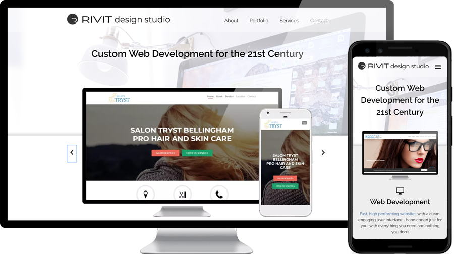 Custom Web Development with RIVIT design